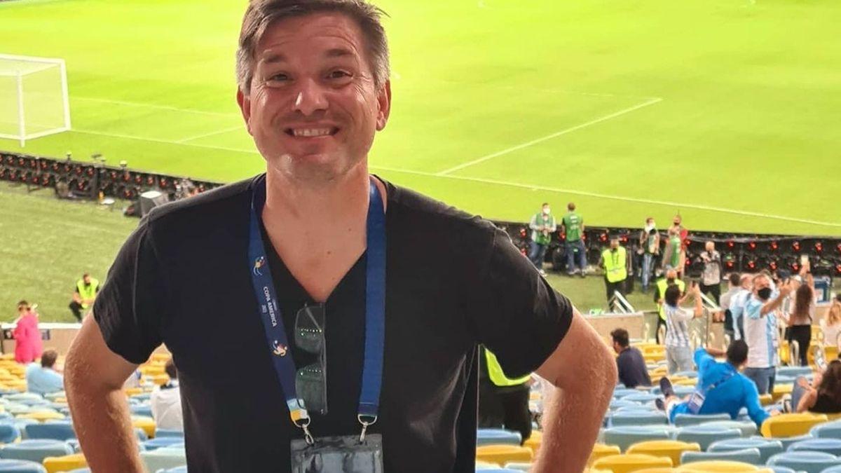 Hugo De Cucco en una de las plateas del histórico Maracaná el último sábado en la final.