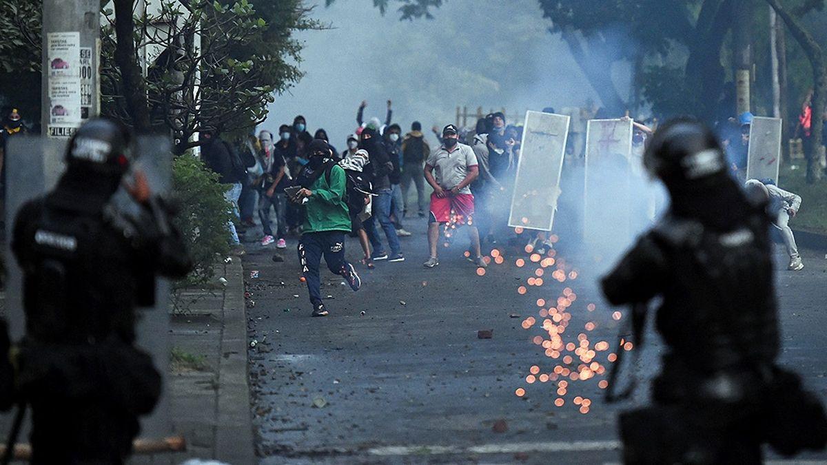 Las protestas se reiteran en distintas ciudades de Colombia.