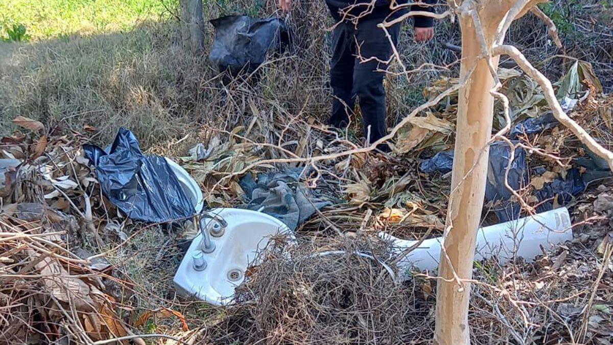 El personal logró secuestrar una pileta lavatorio para baño