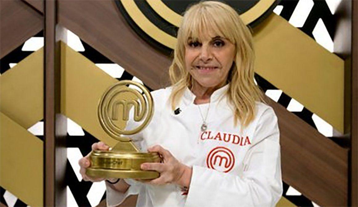 Claudia Villafañe se coronó ganadora de Masterchef Argentina