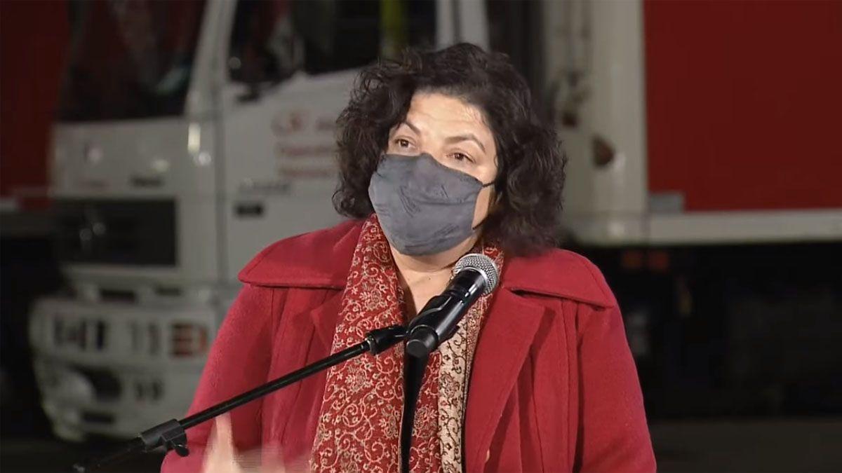 La ministra Vizzotti anunció la prórroga de la emergencia sanitaria.