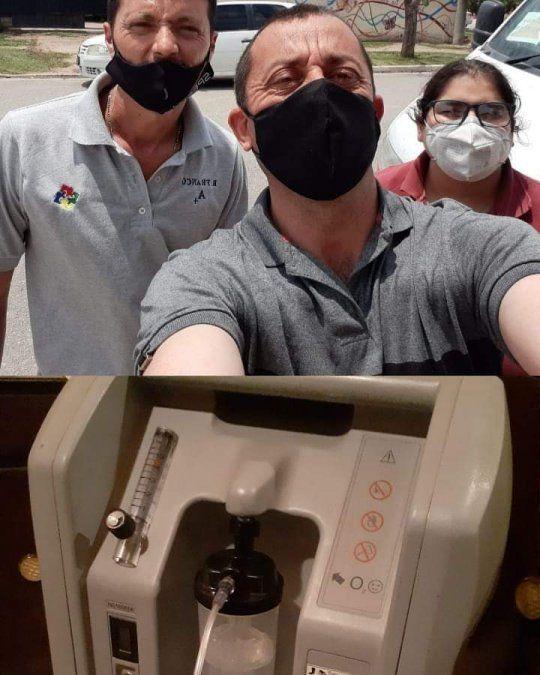 Instalan un equipo de oxígeno en la vivienda de una jubilada recuperada de Covid-19