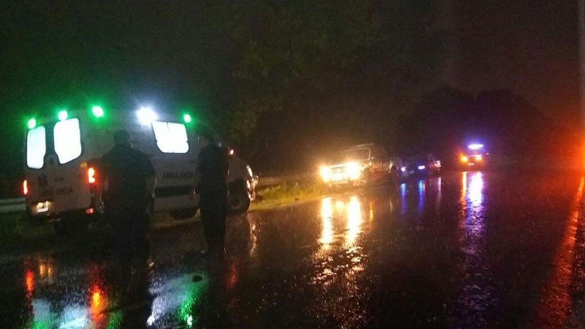 El accidente ocurrió en la madrugada de este domingo en ruta 8.