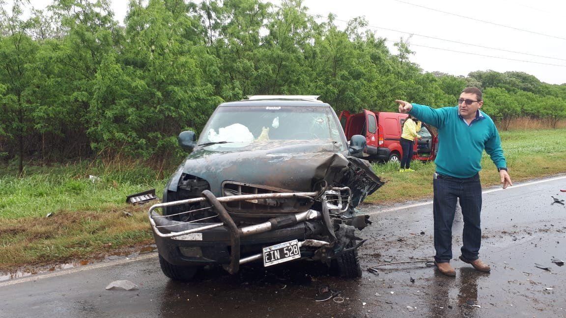 Accidente a la altura de Sanabria:tres vehículos involucrados y cinco heridos