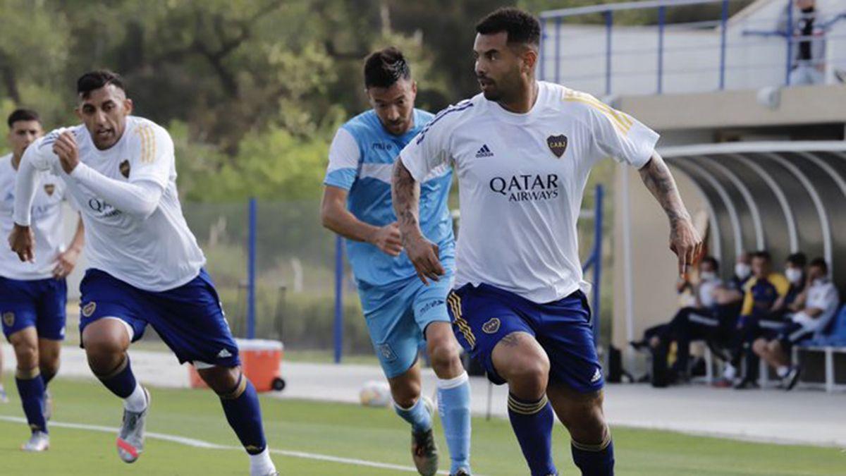 Cardona marcó el primero de los goles de Boca. Foto: Prensa Boca