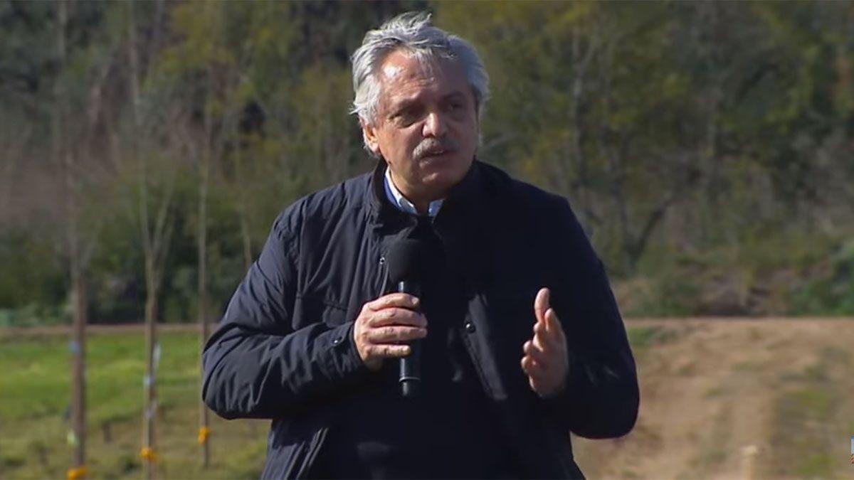 Alberto Fernández encabeza un acto en Mercedes