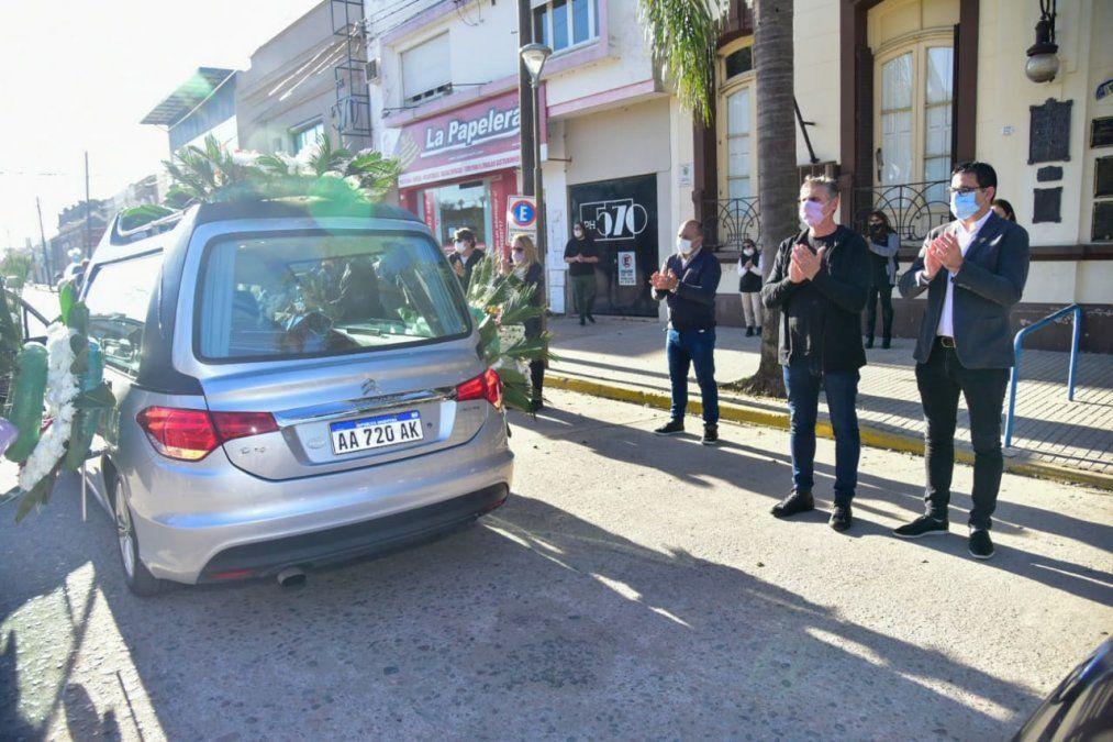El intendente villanovense Graglia dio el ultimo adiós a Guelfi
