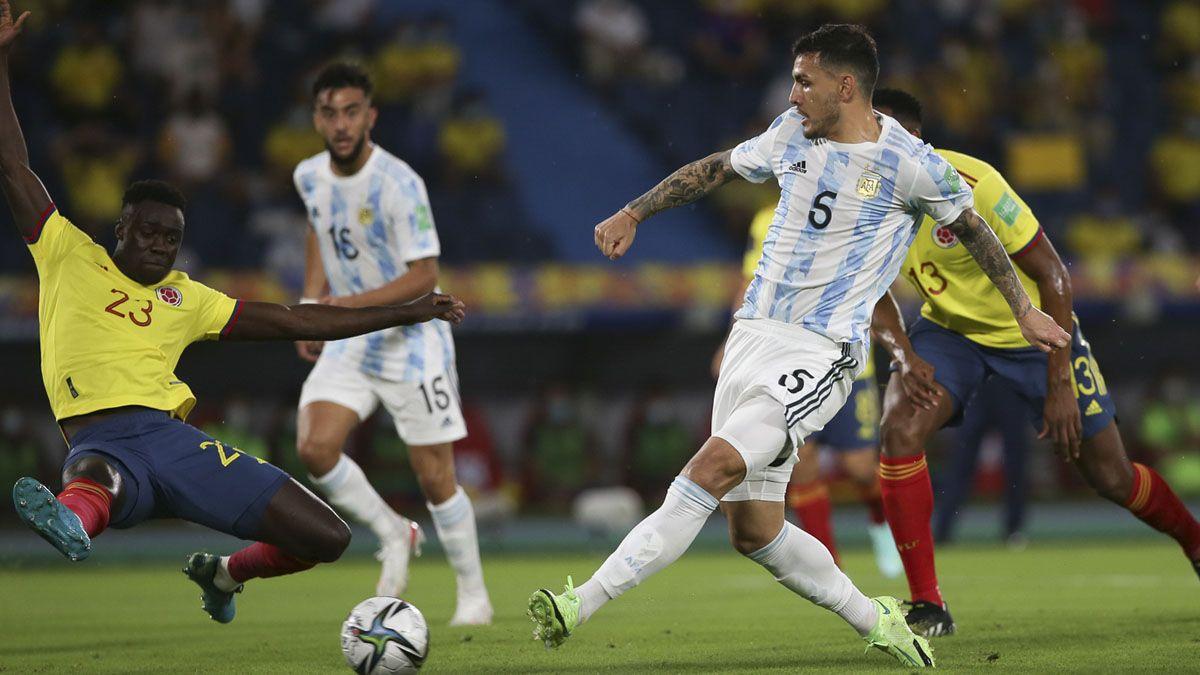 Argentina terminó igualando con Colombia.