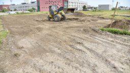 En el espacio de barrio Carrillo se construirá una plataforma de hormigón de 660 metros cuadrados, donde se realizará la demarcación para la práctica deportiva.