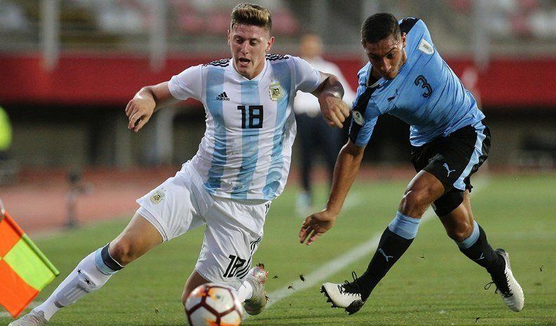 El Sub-20 derrotó a Uruguay y quedó a un paso de la segunda fase del Sudamericano