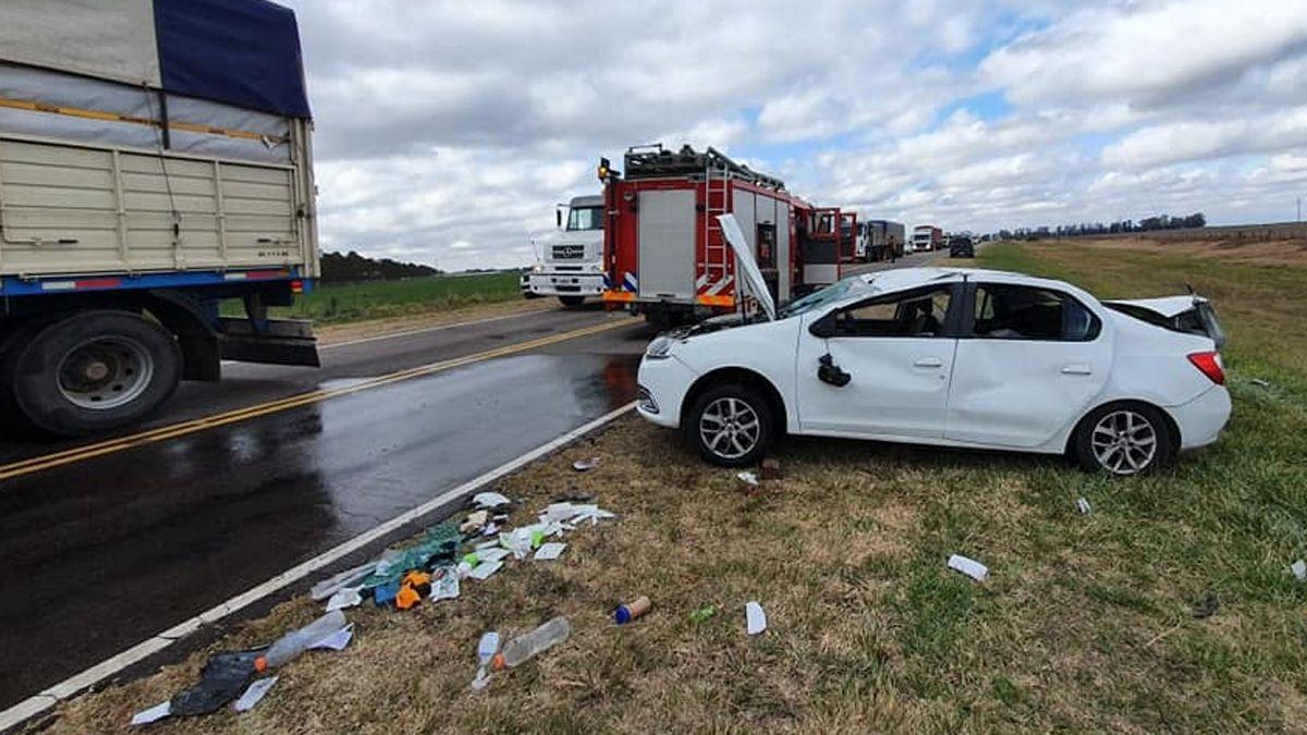 El accidente sucedió en la ruta provincial 27.