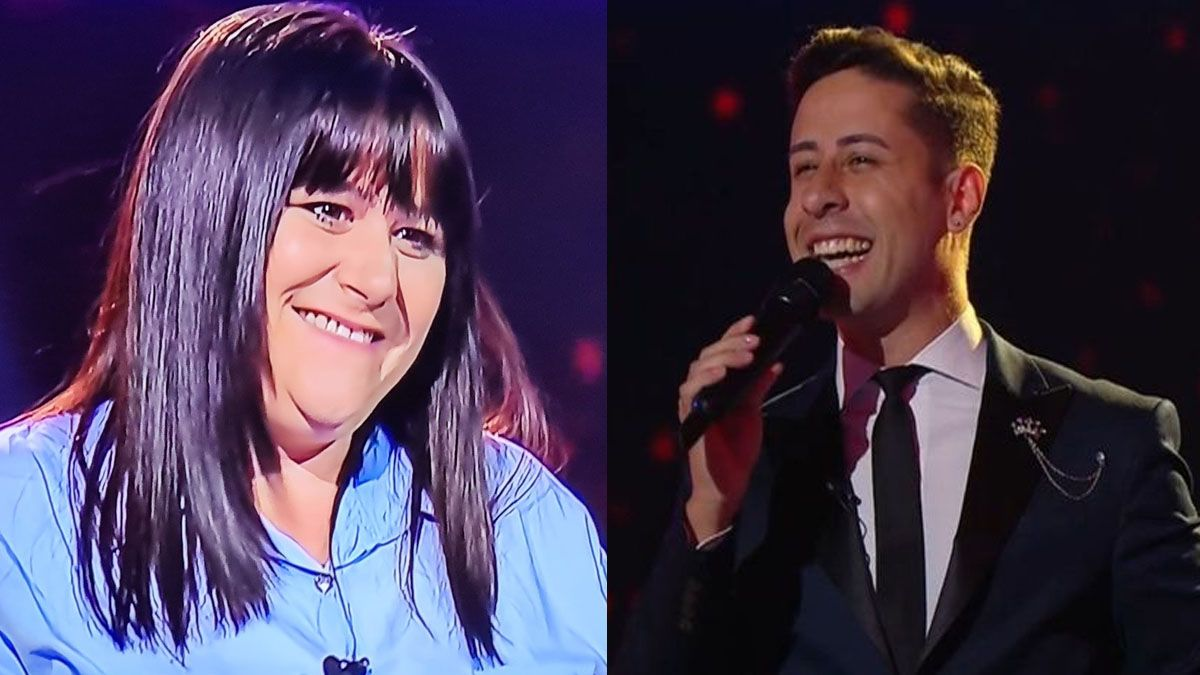 Noelia Bízerra y Emanuel Rivero Famá se presentaron en La Voz