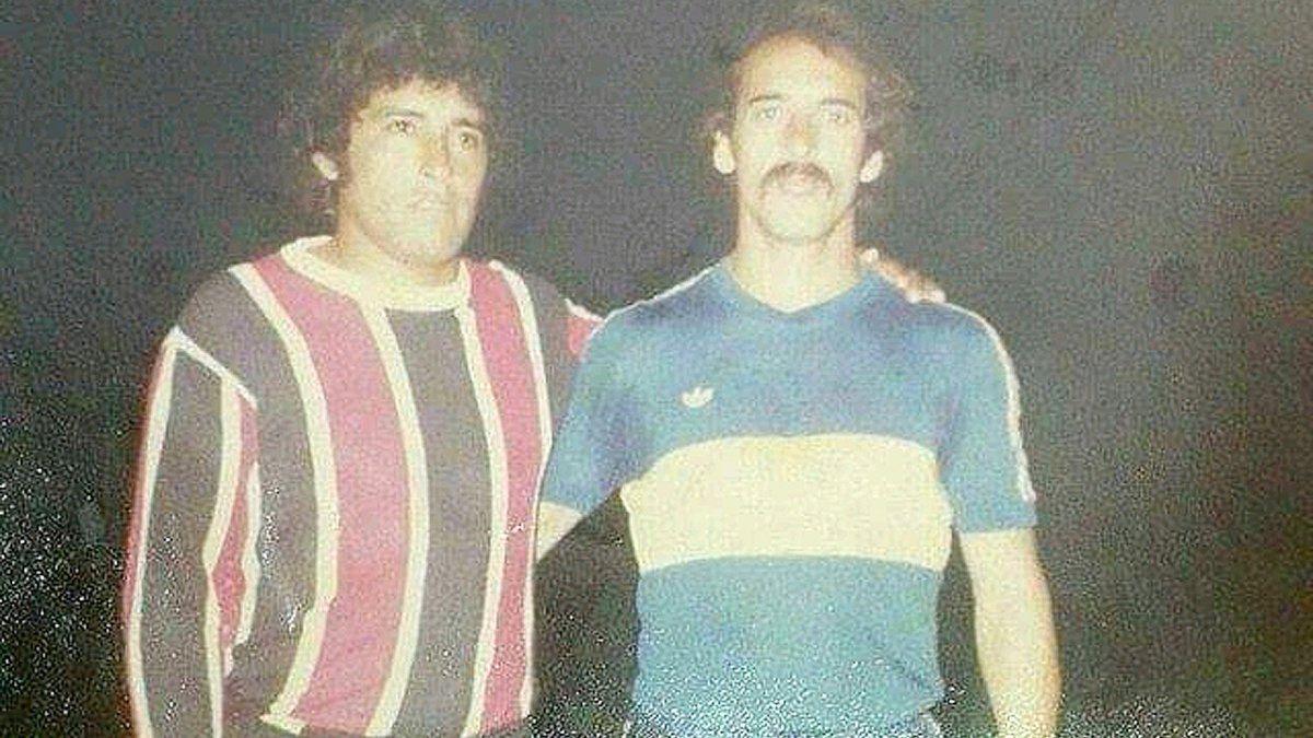 """Laterales derechos que metían miedo. Antonio Mazzini y Vicente """"Tano"""" Pernía. En 1981"""