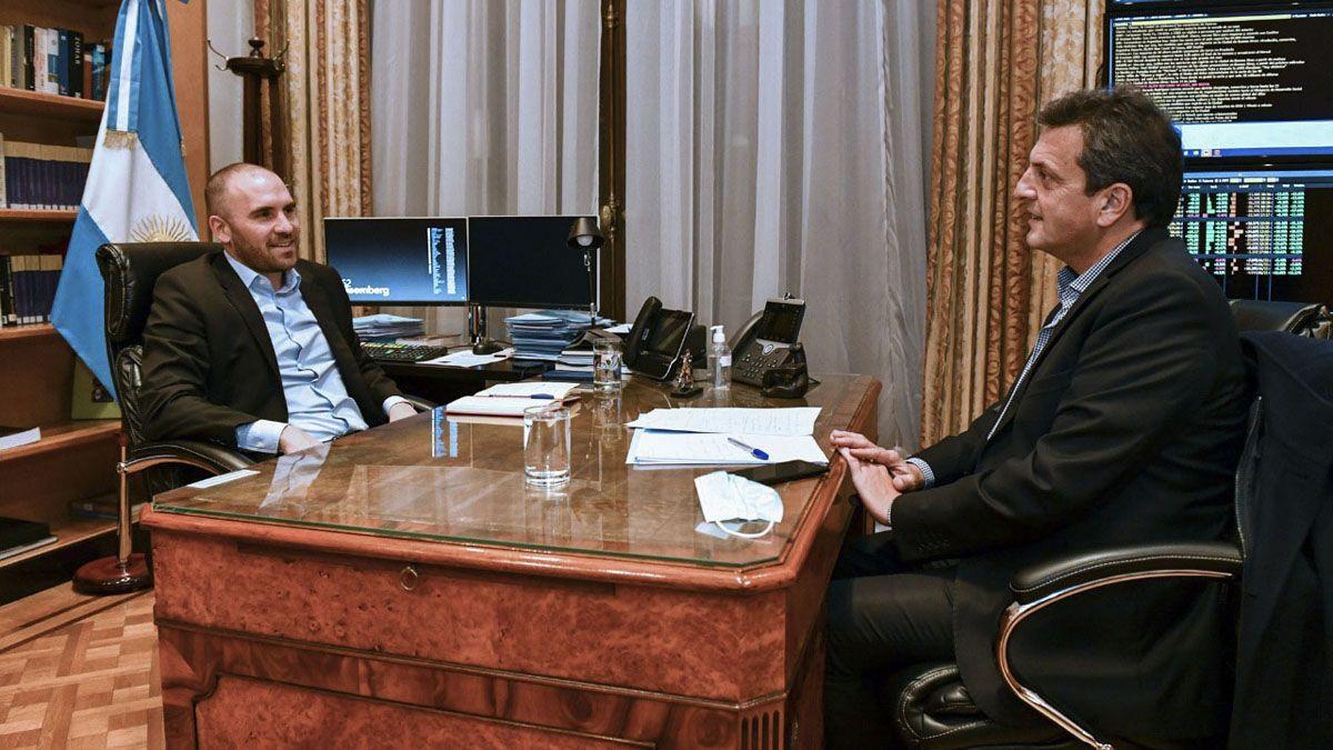 Guzmán se reunió con Massa en el Ministerio de Economía.