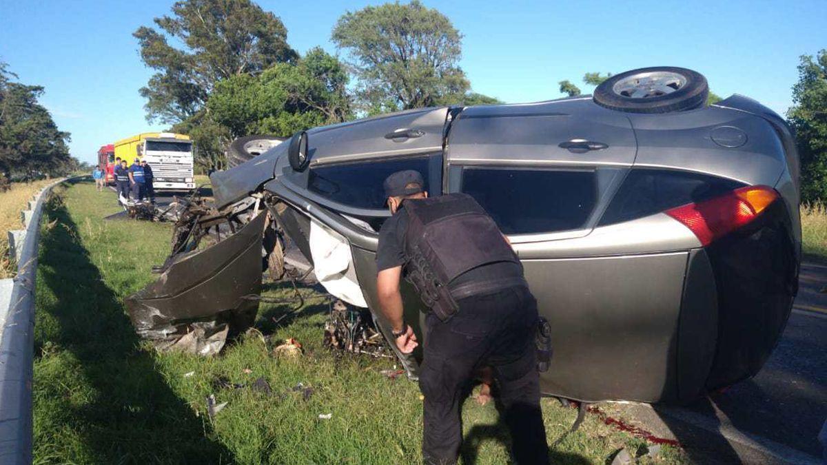 Un laboulayense murió en un choque frontal cerca de Rufino