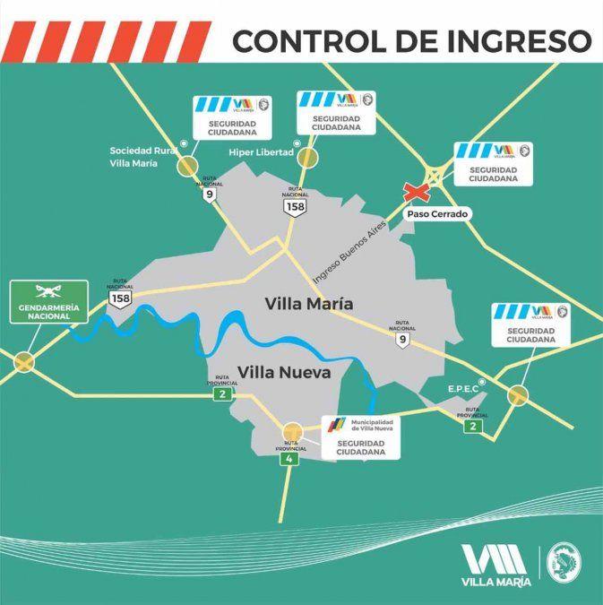Así serán los controles en los accesos a ambas villas.