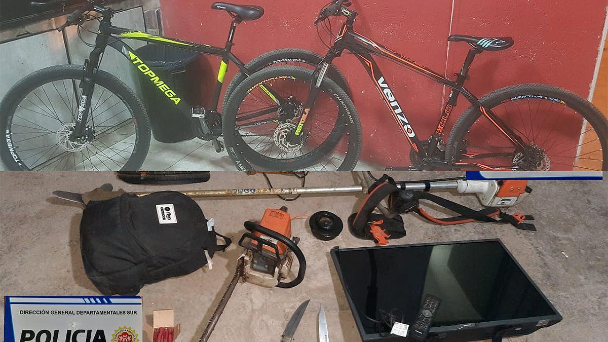 Recuperan bicicletas y herramientas robadas en distintos hechos