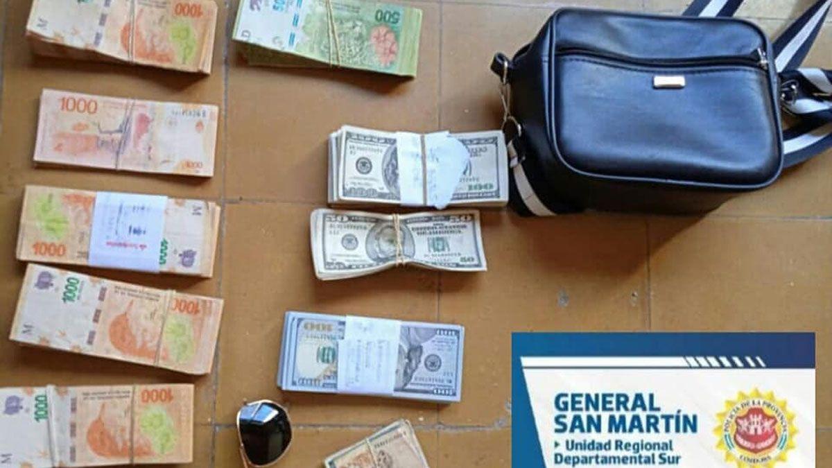 En poder de los detenidos secuestraron una importante suma de dinero.
