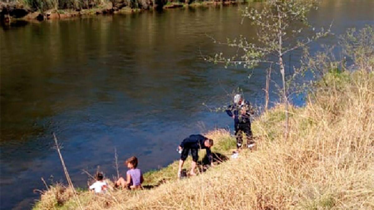 El rescate se realizó en el Balneario Municipal de Río Tercero.