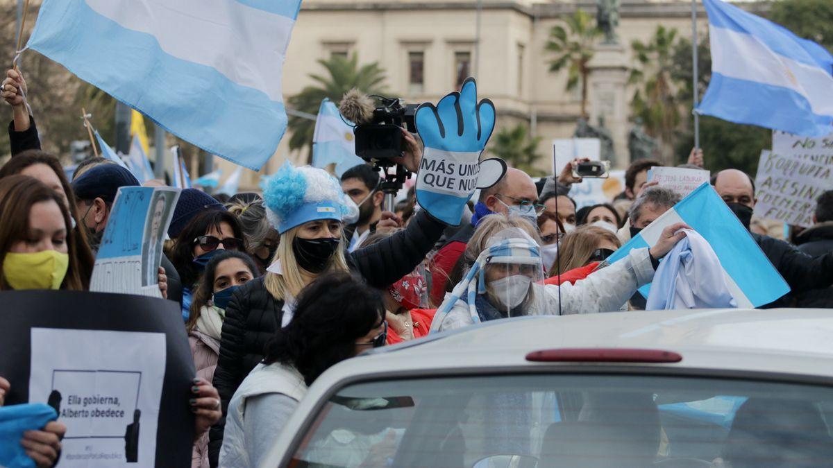 En Córdoba se realizó una de las manifestaciones contra el Gobierno.