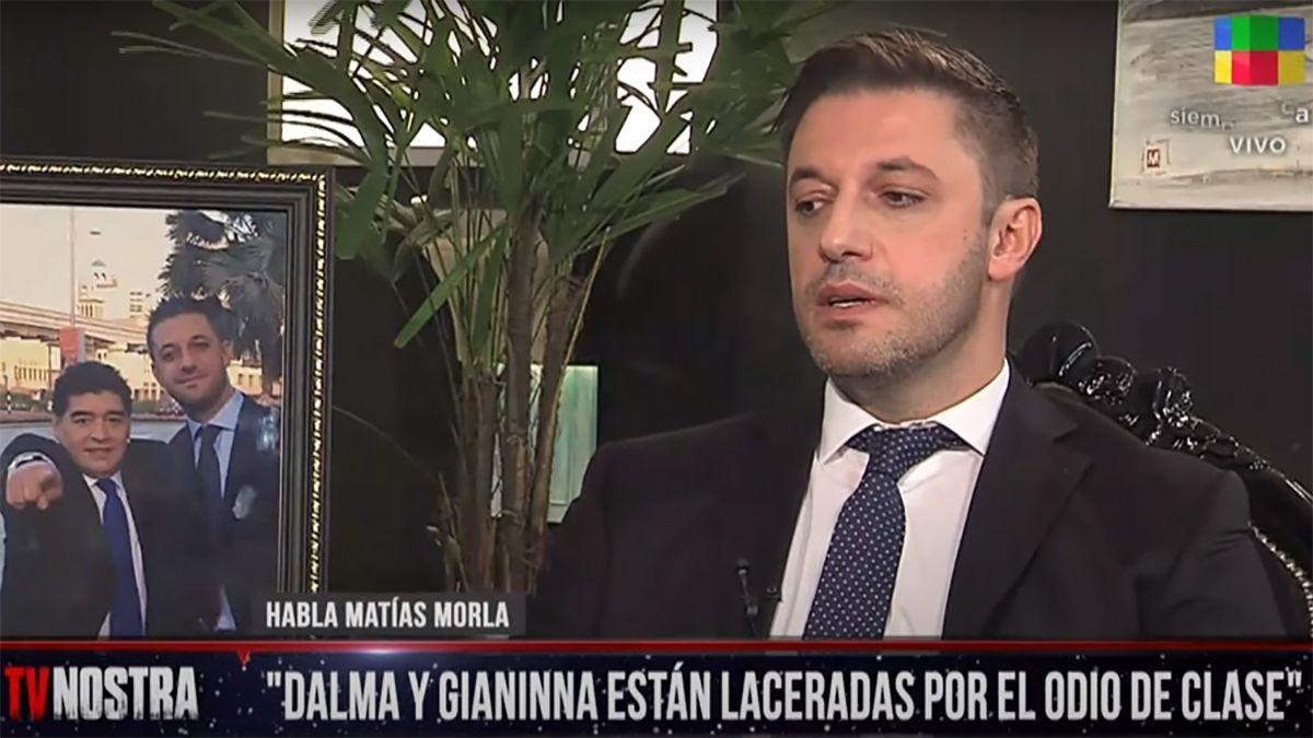 Matías Morla dio su versión de los hechos sobre la muerte de Diego Maradona en TV Nostra. (Créditos: Télam)