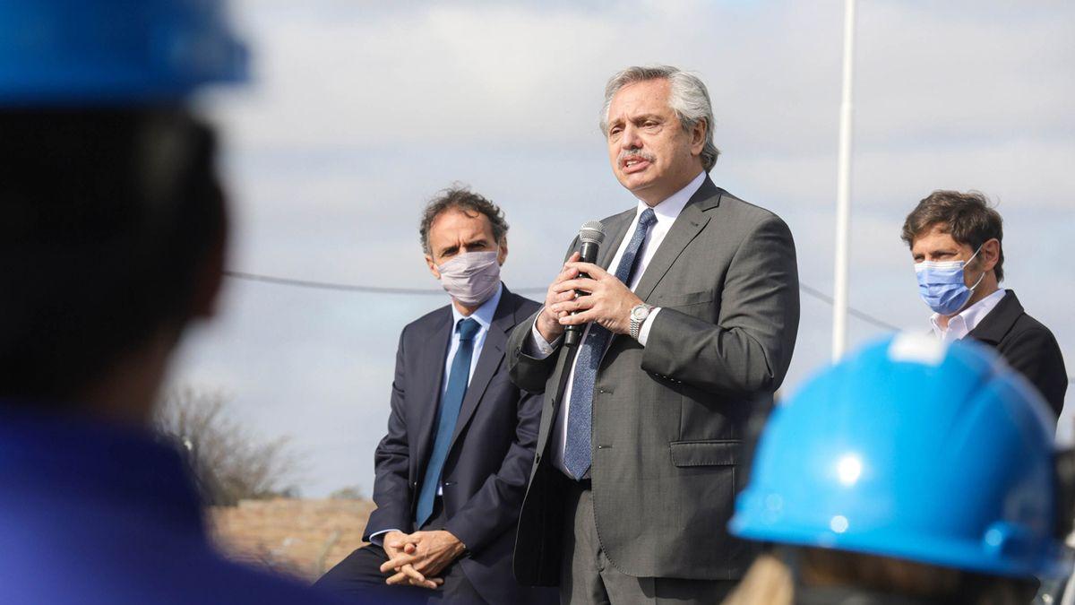 El presidente Alberto Fernández apuntó contra los que especulan