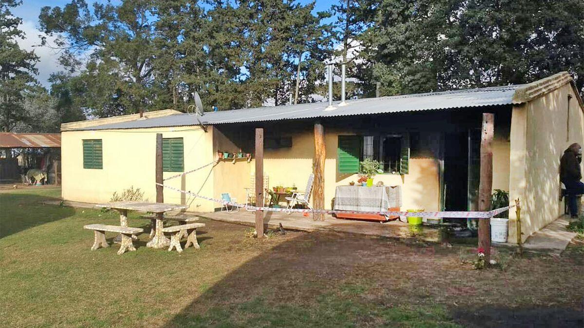 La vivienda de la zona rural de La Aguada donde se desató la tragedia.