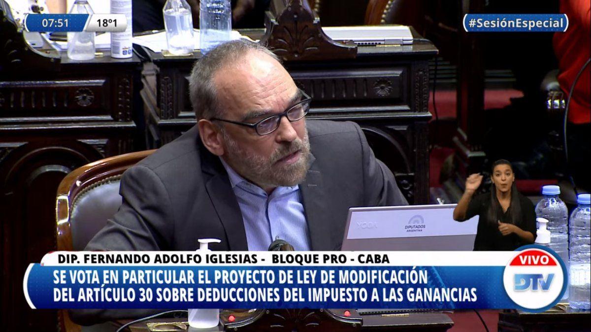 Fernando Iglesias denunció que fue agredido físicamente por un legislador del oficialismo