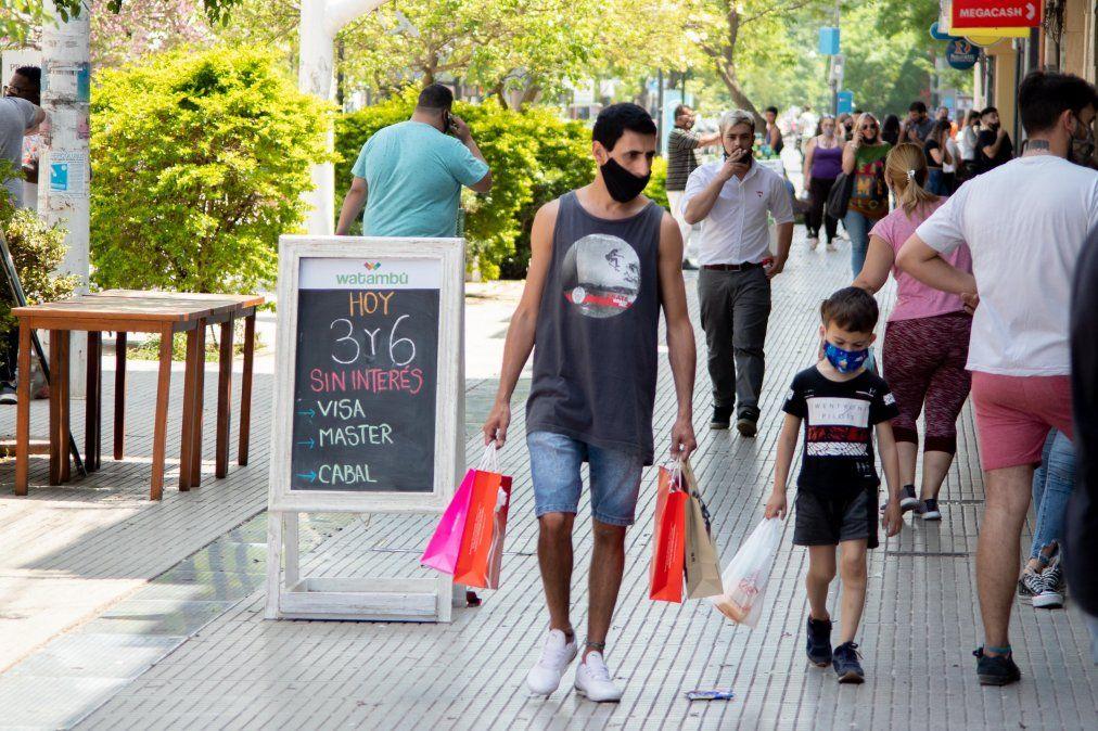 De compras. Padre e hijo