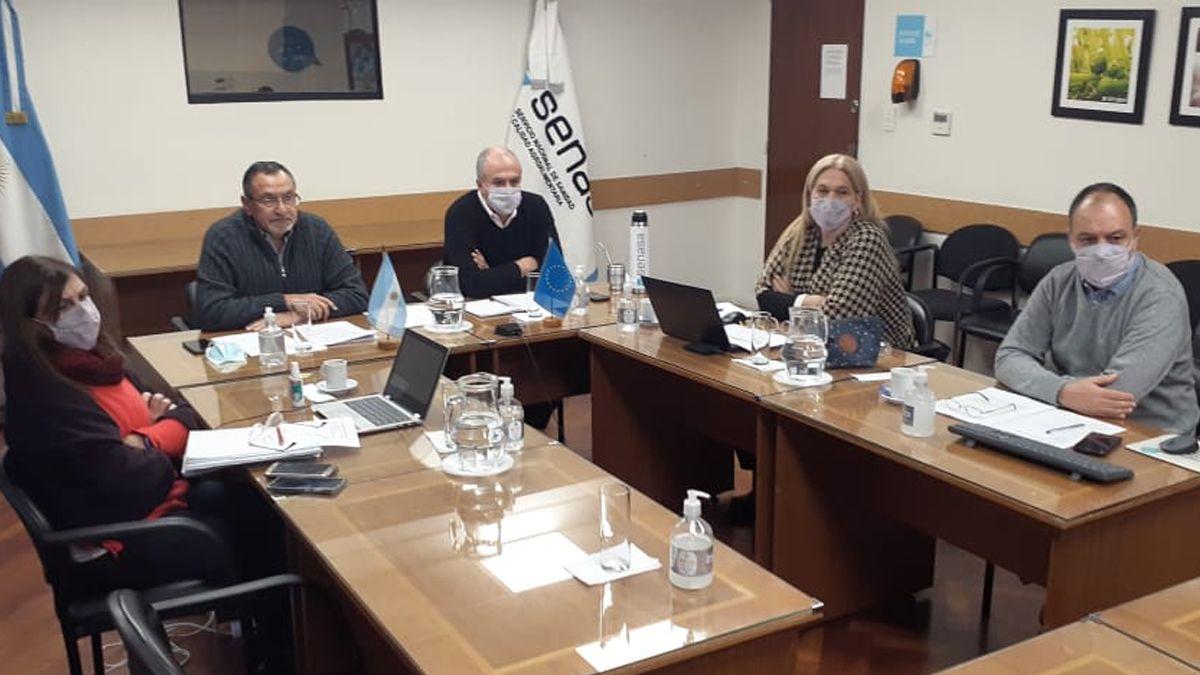 Durante este tiempo hubo diferentes video reuniones de los equipos técnicos de la DG-Sante de la UE y del Senasa.