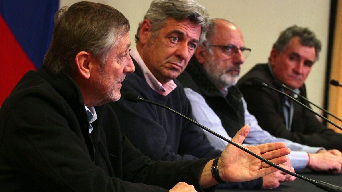 La mesa de enlace en su visita a la muestra de la Rural de Río Cuarto a comienzos de mes. La semana que viene estarán con Schiaretti.