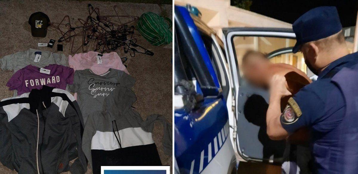 Recuperan parte de la mercadería robada en una tienda