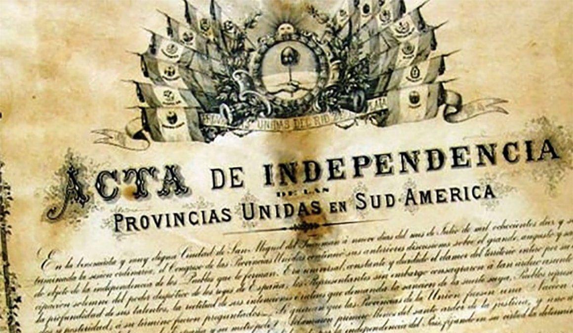 ¿Dónde está el Acta de la Independencia de 1816?