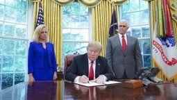 Trump da marcha atrás con la separación de familias de inmigrantes