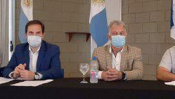 El secretario de Obras Públicas, Martín Gill, y el intendente Guaschino firmaron convenios para ejecución de obras. Estuvo presente también el legislador Viola.