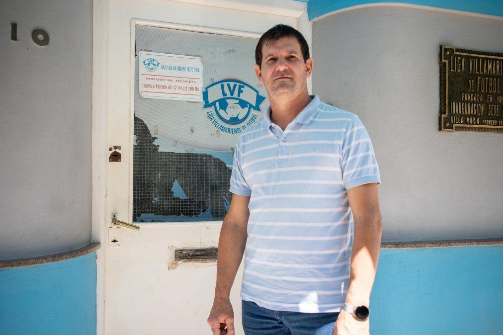 Diego Conrero, el flamante presidente de la Liga Villamariense de Fútbol