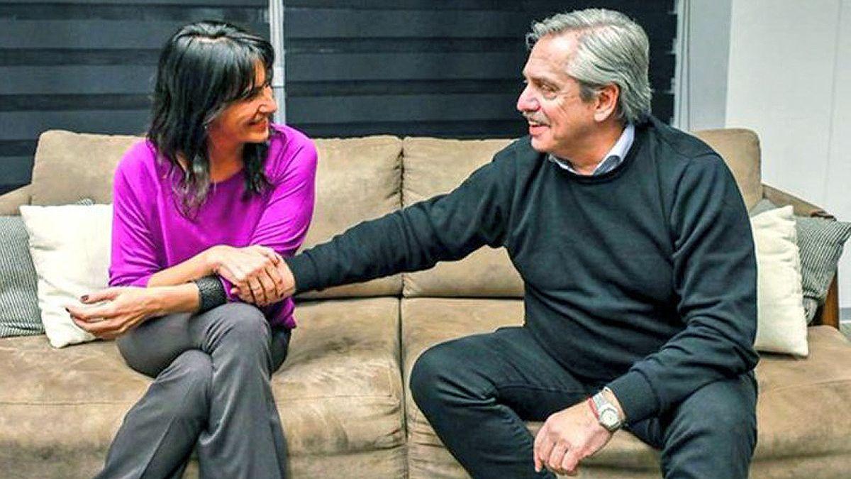 Alberto Fernández junto a Natalia de la Sota