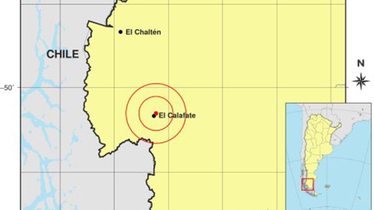 El fenómeno se produjo hoy a las 4:55 de la mañana en la región Patagónica