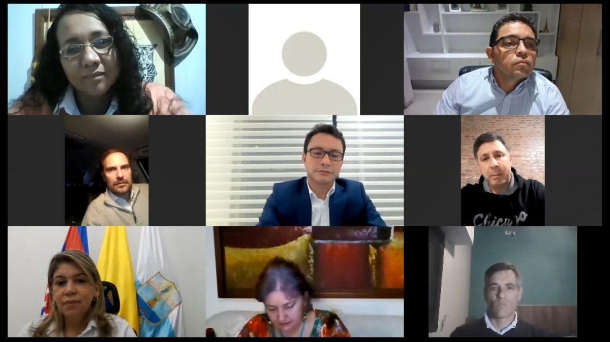 Rosso dialogó con gobernadores de Colombia para articular trabajo conjunto
