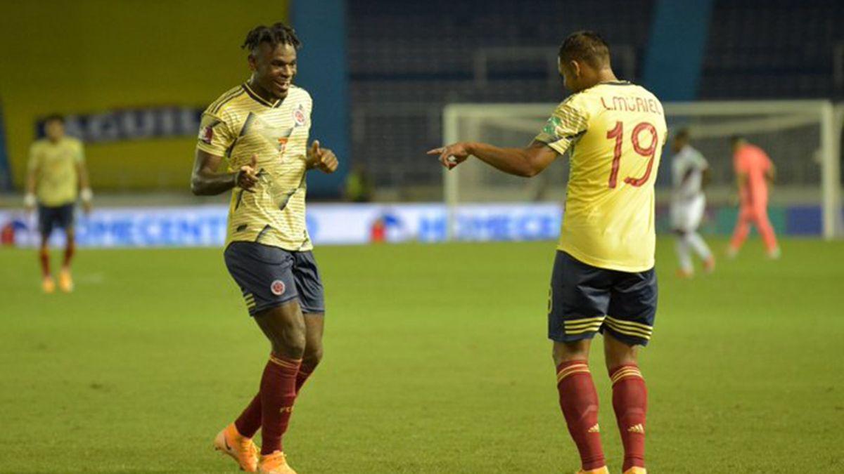 Zapata y Muriel fueron los autores de los goles de Colombia