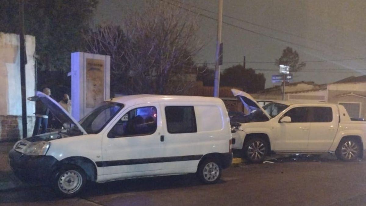La colisión se produjo en la esquina de bulevar Argentino y calle Teniente Ibáñez.