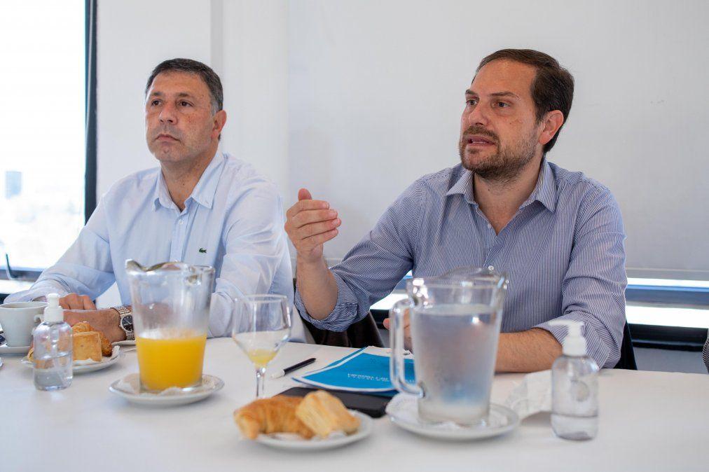 Gill y Rosso hablaron de las obras que se ejecutan en Villa María.