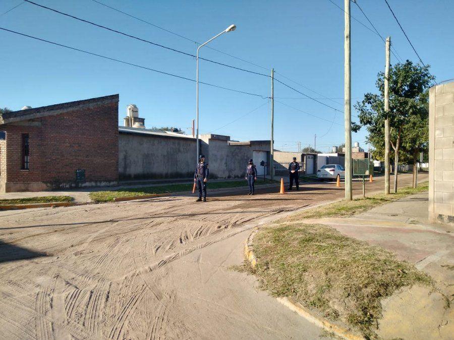 Este miércoles uniformados se desplegaron en un sector de barrio Los Olmos