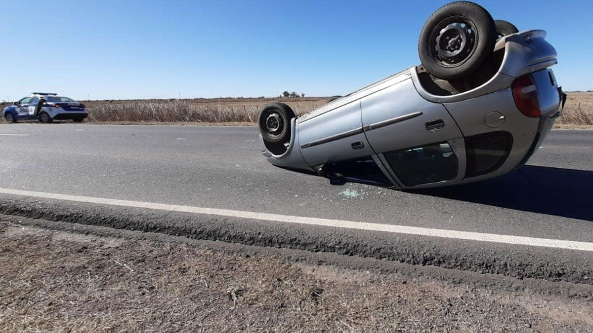 El accidente ocurrió en ruta 4