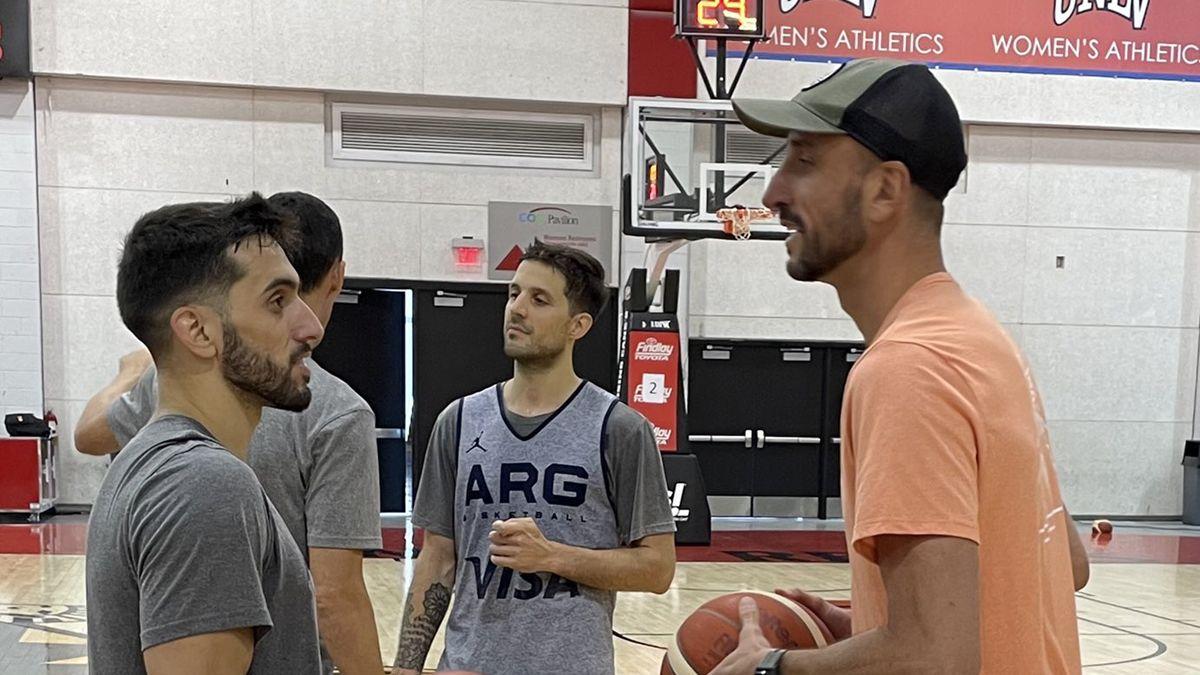 Ginóbili visitó a la selección en Las Vegas