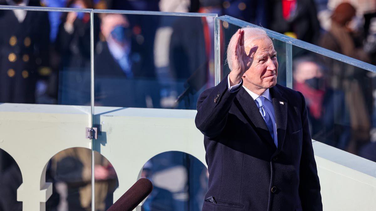 Joe Biden brindó un discurso de unidad y reconciliación.