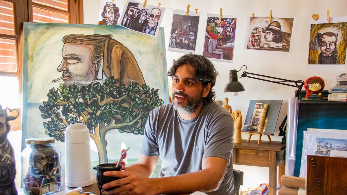 El dibujo de Matías Tejeda que se sumó a la campaña de la OIT contra el trabajo infantil en el mundo.