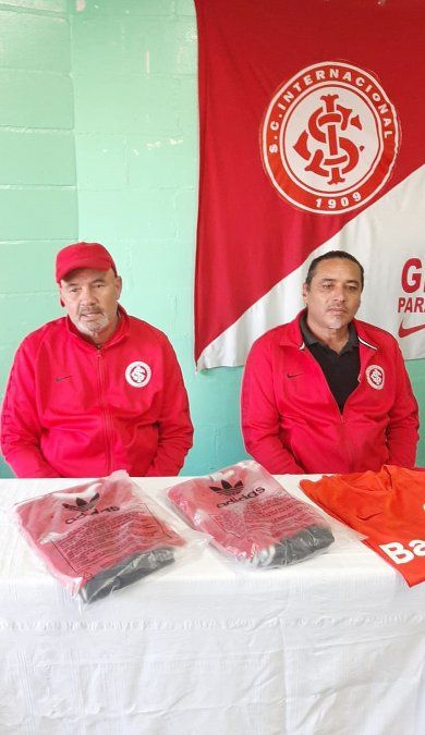 Los representantes de Inter de Porto Alegre que presentaron el nuevo proyecto en la ciudad.