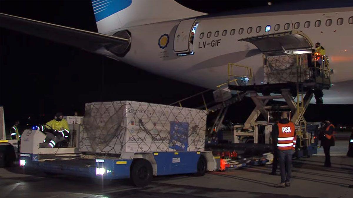 Argentina recibió otras 709.085 dosis de Sputnik V.