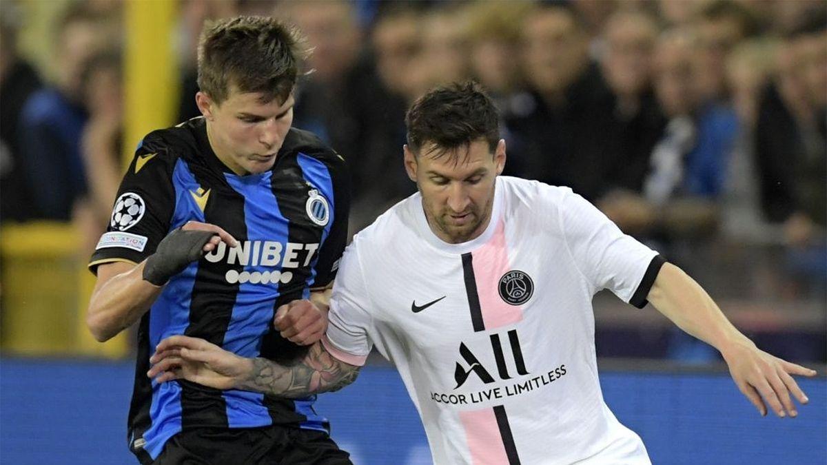En el PSG de Messi no pudo con el Brujas
